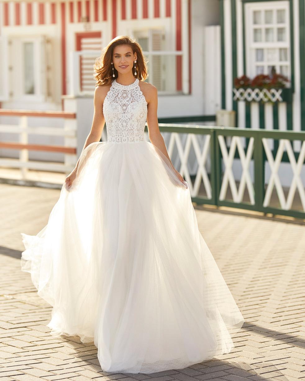 Cousu De Fil Blanc Robes De Mariee